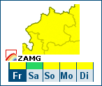 ZAMG-Wetterwarnungen in OÖ